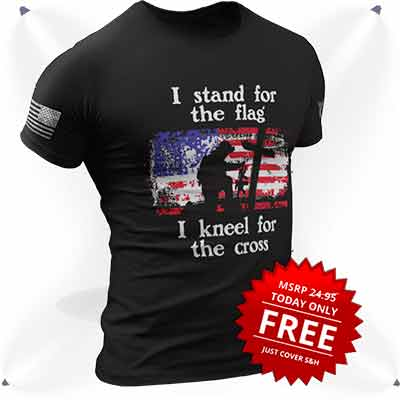 """free i stand for the flag t shirt - Free """"I Stand For The Flag"""" T-Shirt"""