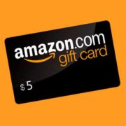 free 5 amazon credit 180x180 - Free $5 Amazon Credit