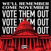 """free vote them out sticker 180x180 - Free """"Vote Them Out"""" sticker"""