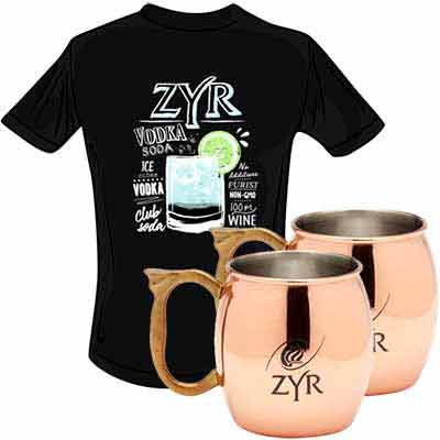 get a zyr vodka t shirt and 2 moscow mule mugs - Get a ZYR Vodka T-Shirt and 2 Moscow Mule Mugs