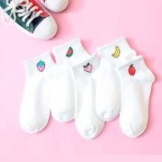 free women short socks with colorful fruit 180x180 - Free Women short socks with colorful fruit