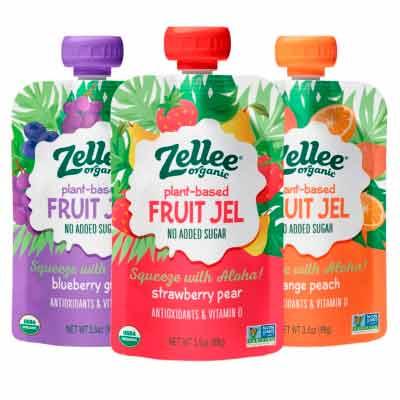 free zellee organic plant based fruit jel - FREE Zellee Organic Plant-based Fruit Jel