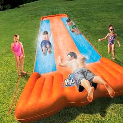 free bestway triple water slide party kit - FREE Bestway Triple Water Slide Party Kit