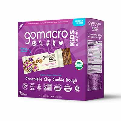 free gomacro kids chocolate chip cookie dough macrobars - FREE GoMacro Kids Chocolate Chip Cookie Dough MacroBars