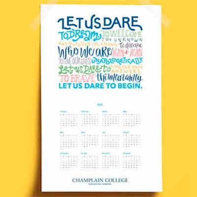 free 2021 champlain college calendar poster - FREE 2021 Champlain College Calendar Poster