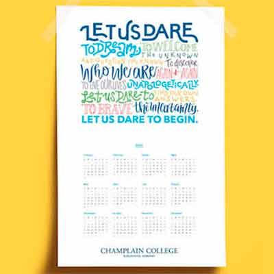 free 2021 champlain college calendar poster - FREE 2021 Champlain College Calendar Poster
