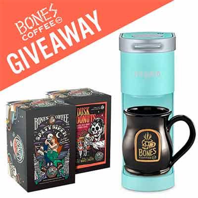 bones coffee keurig k mini brewer 2 bones cups and a skull logo mug - Free Bones Coffee Keurig K-Mini Brewer, 2 Bones Cups and a Skull Logo Mug