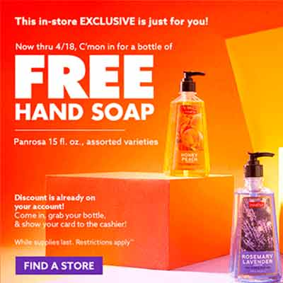 free bottle of hand soap - FREE Bottle of Hand Soap
