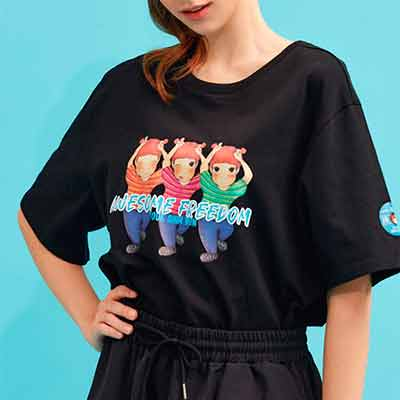 free youk shim won cute graphic t shirts for women - FREE YOUK SHIM WON Cute Graphic T-Shirts for Women