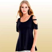 free cold shoulder short sleeve blouse 180x180 - FREE Cold Shoulder Short Sleeve Blouse