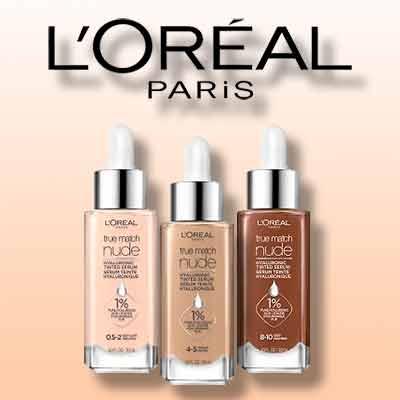 free loreal paris true match nude hyaluronic tinted serum - FREE L'Oreal Paris True Match Nude Hyaluronic Tinted Serum