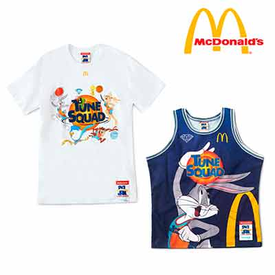 free t shirt mcdonalds space jam collection - FREE T-shirt McDonald's Space Jam Collection