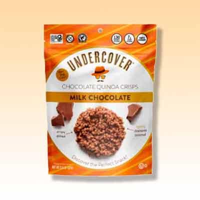 free undercover snacks milk chocolate quinoa crisps - FREE Undercover Snacks' Milk Chocolate Quinoa Crisps